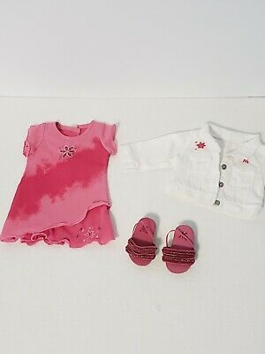 ​​American Girl doll Pink Tie Dress w/ white jacket.