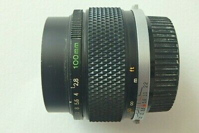 Olympus OM-System Zuiko MC Auto-T 100mm F2.8 prime Lens for service/repair