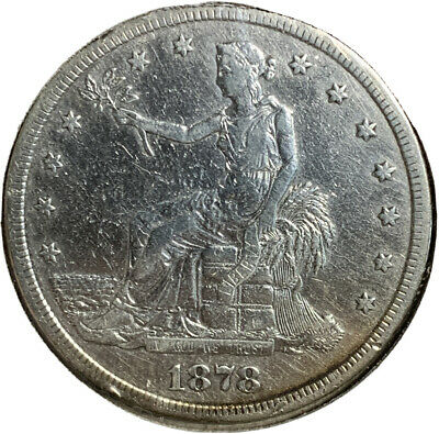 1878 S Silver Trade Dollar $1 Dollar US Coin SI398