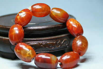 Decoration Rare Agate Polishing Brown Beads Auspicious Beautiful Hand Catenary