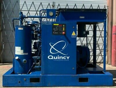 50Hp Air Compressor, Quincy Screw Compressor #1341