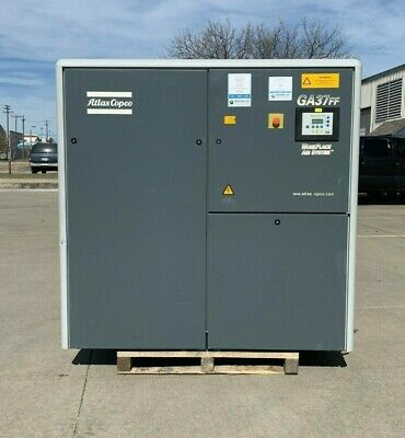 50Hp Atlas Copco Screw Compressor w/Built-in Dryer #1327
