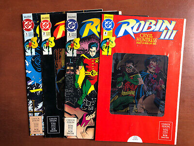 Robin III: Cry of the Huntress #1-4 (1992) VF DC Key Issue Comic Book Set