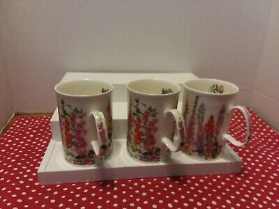 Dunoon Fine Bone China Mugs Made In England X3