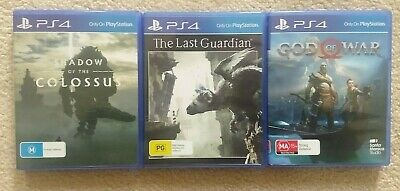 Shadow of the Colossus & The Last Guardian & God of War Playstation 4 PS4 Games