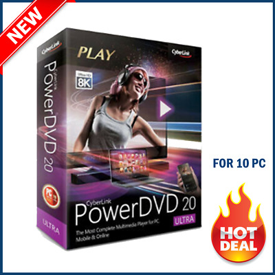 PowerDVD 20 Ultra🔥 2020 🔥Full Version 🔥Lifetime License 🔥 5s DELIVERY
