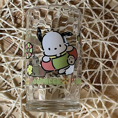 Vintage 1989 1997 Sanrio Textured Pochacco Beach Swim Scene Glass