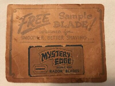 Mystery Edge Free Sample Blade Complimentary Card