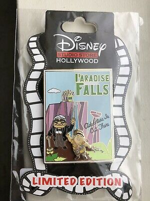 Dsf Disney Up Paradise Falls Postcard Pin LE 300 Russell Carl Adventure