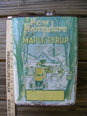 Vintage New Hampshire Maple Syrup Can One Gallon