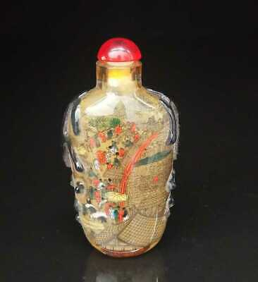 Chinese old peking Glass Handmade Inside painting Exquisite Snuff Bottles 008