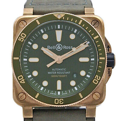 Free Shipping Pre-owned Bell&Ross BR03-92-DIV-B Diver Bronze 999 pcs Limited