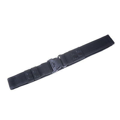 Black Heavy Duty Security Guard Police Utility Nylon Belt Waistband Supplies HG