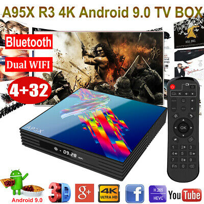 A95X R3 Android 9.0 4+32G Dual WIFI BT4.0 TV BOX Quad Core RK3318 Media Streamer