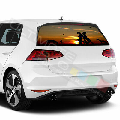 Camo Hunting Decals Window See Thru Stickers Perforated for Volkswagen Golf 2017