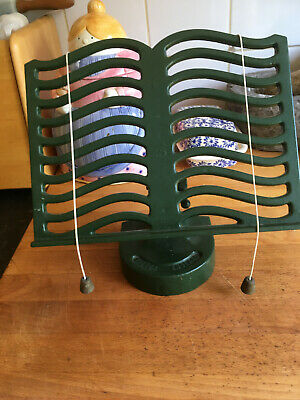 Victor England Vintage Cast iron recipe book or iPad stand green