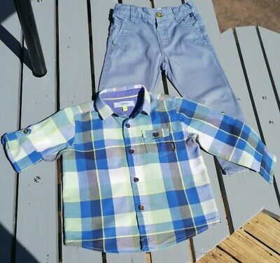 Baker Ted Baker Boys 2-3 Years Shirt Trousers VGC