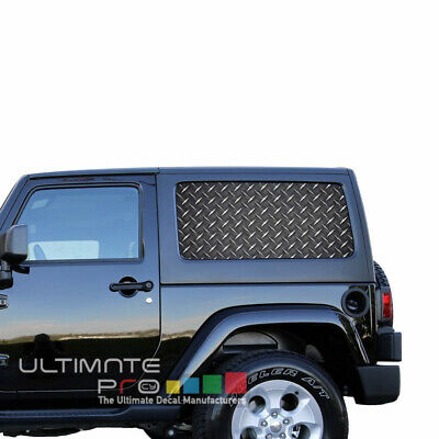 Sticker Bomb  SeeThru Stickers Perforated for Jeep Wrangler 2 doors side window