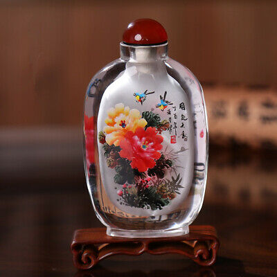 Inner Painting Snuff Bottle Antique National Beauty and Heavenly Fragrance