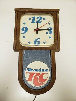 """Vintage Rare RC Cola Electric Clock """"ME AND MY RC"""" Works"""