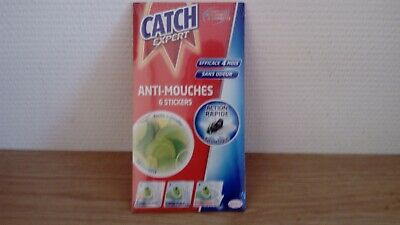 lot de 4 paquets de 6 stickers catch expert anti mouches