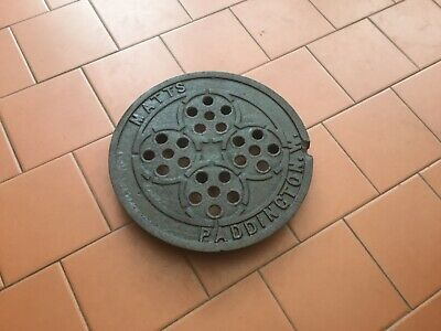 UNUSUAL Original VICTORIAN MATTS PADDINGTON W Ventilated Cast Iron Coal Hole lid