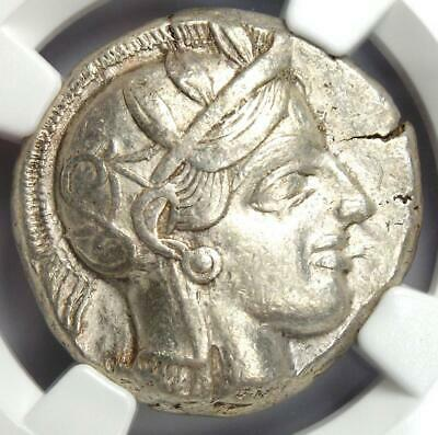 Ancient Athens Greece Athena Owl Tetradrachm Coin (440-404 BC) - NGC Choice VF!