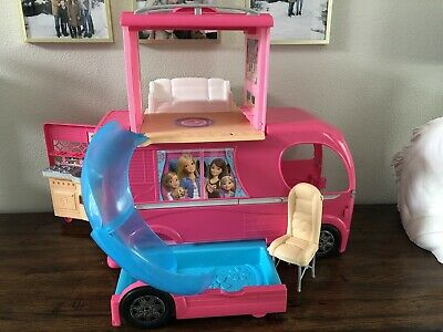 Barbie Dream Camper Adventure Camping Playset Accessories Kids Play Girls Gift