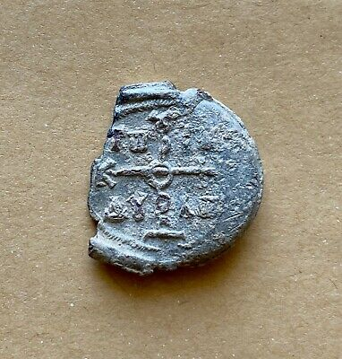 Byzantine lead seal of Alexios imperial spatharios and droungarios. Important!
