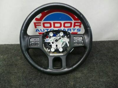 13-18 Dodge ram black leather steering wheel with audio controls