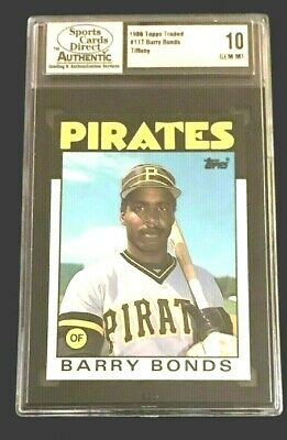 1986 Topps Traded Tiffany #11T Barry Bonds Authentic Rookie 10 Gem Mint (Look)