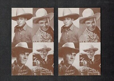 Lot Of (2) High Grade 1947-1966 Exhibit Roy Rodgers Arcade Cards Psa ?