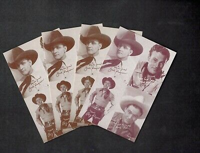 Lot Of (4) High Grade 1947-1966 Exhibit Roy Rodgers Arcade Cards Psa ?