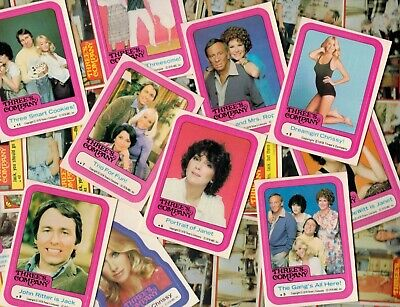 Lot Of (60) High Grade 1978 Three's Company Assorted Lot W/ Stickers Psa ?