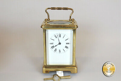 Watch Travel Clock Brass With Key And Suitcase Antique Table Clock Collector
