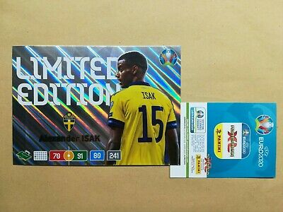 Panini Adrenalyn XL EURO 2020 Limited Edition Alexander Isak XXL
