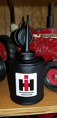 International Harvester IH tractor old oil can  Farmall IH logo
