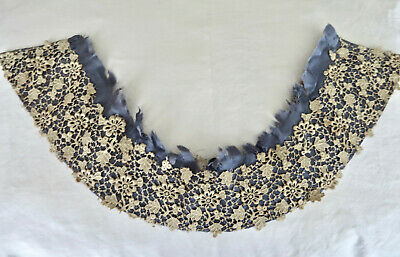 Superb Antique Complete Chemical Lace Collar Late 19th Century Textiles