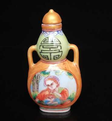 Collectible Handmade Painted Porcelain Cloisonne Snuff Bottles Exquisite 10