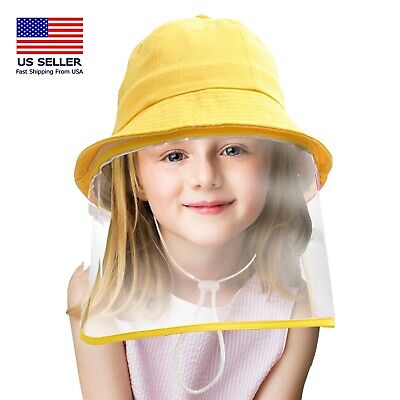 Kids hat with face Shield Kids Protective Hat Safety Cover for Kid Age 3-13