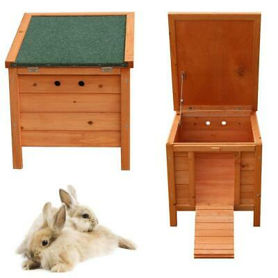 New Fir Wood Waterproof Wooden Rabbit Hutch Pet Small Animal House Outdoor