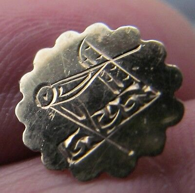 Small 9c gold masonic pin