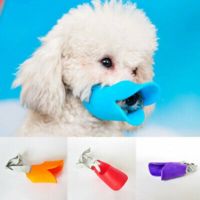 Pet Mouth Muzzles Silicone Soft Anti-biting Adjustable Puppy Dog Chewing