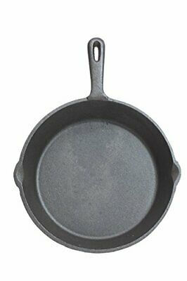 KitchenCraft Flat Round Induction-Safe Non Stick Cast Iron Griddle Pan, Healthy