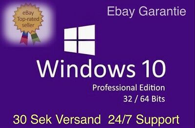 Microsoft Windows 10 Pro Key 32/64 Bit Vollversion professional Lizenzschlüssel