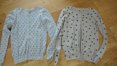 Primark womens/girls thin cotton cardigans grey marl light blue x2 size 8-10