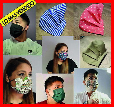1 Adult Face Covering Mouth Nose Protection Washable Reusable Black Breathable