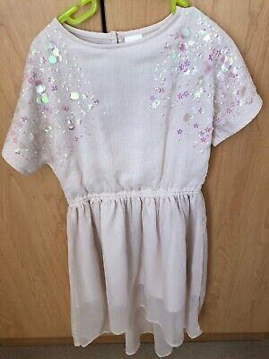 Girls sparkly sequin Next party dress age 5 vgc