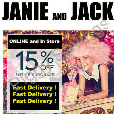 ✔️ Janie and Jack 15% off Coupon Code Promo - Exp 07/03/20 **Instant Delivery**