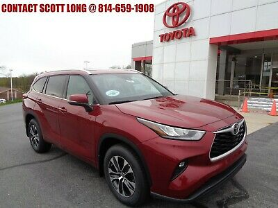 2020 Toyota Highlander New 2020 Highlander XLE 3.5L V6 AWD 2020 Highlander XLE AWD 3.5L Navigation Moonroof Leather 8 Seat Ruby Flare Pearl